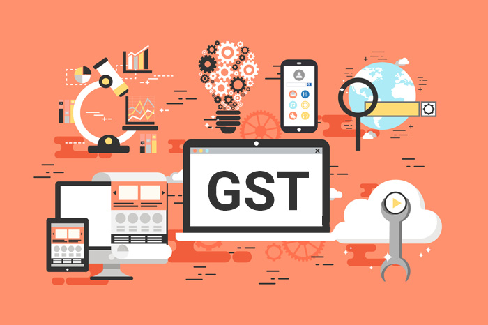 Illustrated Image of GST For Web Design and Development Concept