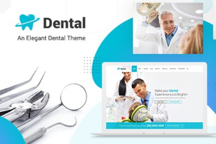 A Sample Template of Dental Website Theme Which Denotes The Importance of Theme For A Professional Dental Website.